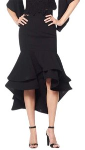Gracia Ruffled Red Skirt Black