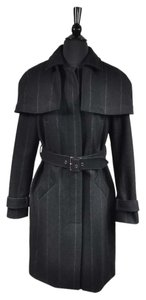 Vera Wang Button Belted Winter Heavy Coat