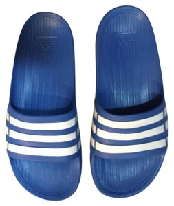 adidas Blue and White Boots