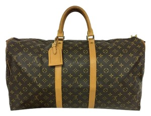 Louis Vuitton Lv Selvedge Keepall 55 brown Travel Bag