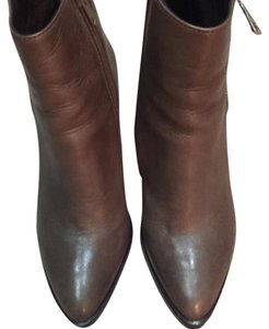 Steve Madden Gray/Brown Leather Booties with Silver zipper. Never Worn! Gray Boots