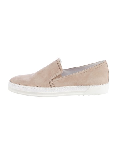 Tod's Taupe Suede Slip-on Sneakers Size