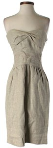 Diane von Furstenberg short dress Linen Sweetheart Strapless Metallic on Tradesy