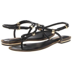 Michael Kors Black with gold detail Sandals