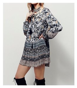 Free People short dress Multi-Color Boho Flowy Mini on Tradesy