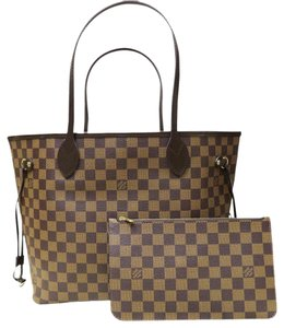 Louis Vuitton Lv Damier Ebene Neverfull Mm Shoulder Bag