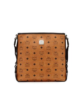 MCM Leather Cognac Messenger Bag