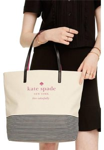 Kate Spade Tote in Natural/Stripe