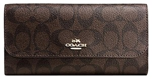 Coach COACH CHECKBOOK WALLET IN SIGNATURE F 52681 NWT