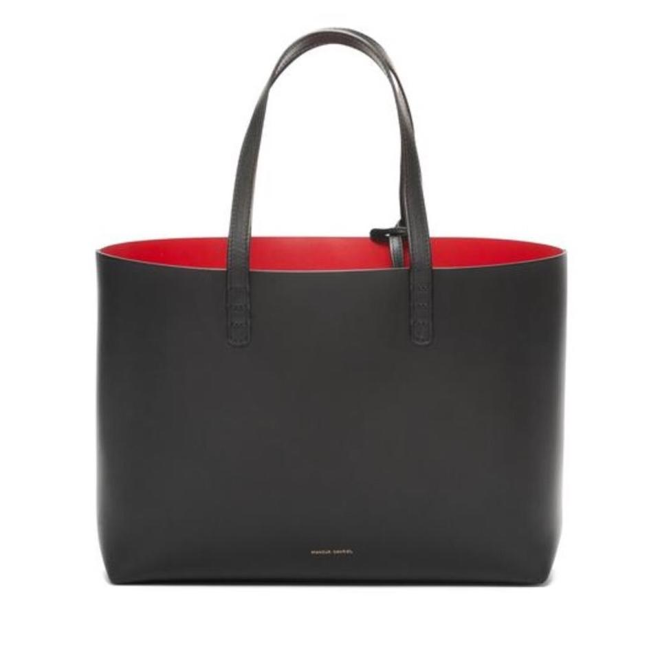 Mansur Gavriel Small Flamma Black And Red Tote Bag | Totes on Sale