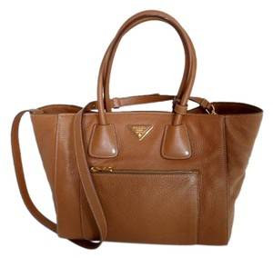 Prada Tote in Brandy Brown