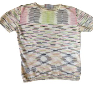 Missoni T Shirt White/green/pink/black