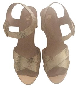 River Island Gold Sandals