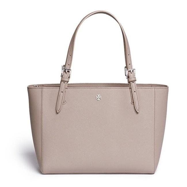 Item - Small 'york' Buckle French Grey Saffiano Leather Tote