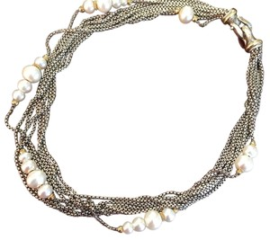 David Yurman DAVID YURMAN TWO-TONE PEARL NECKLACE