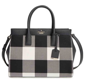 Kate Spade New York Cameron Street Plaid Candace Satchel in Light Shale Multi