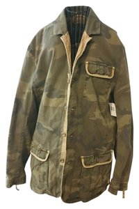 Buffalo David Bitton Men's Denim Camouflage Fall Military Jacket