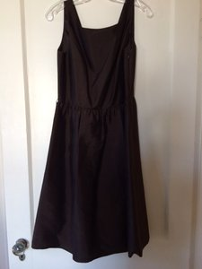 Ann Taylor Brown Ann Taylor Scoop Neck Bridesmaid Dress Dress