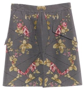 MCQ by Alexander McQueen Floral A-line Mini Skirt Gray