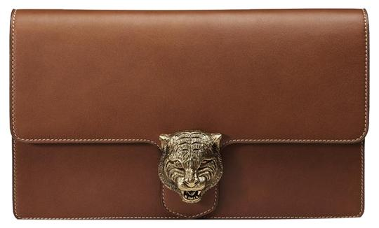 Preload https://img-static.tradesy.com/item/20117426/gucci-animalier-brown-leather-with-contrast-stitching-clutch-0-1-540-540.jpg