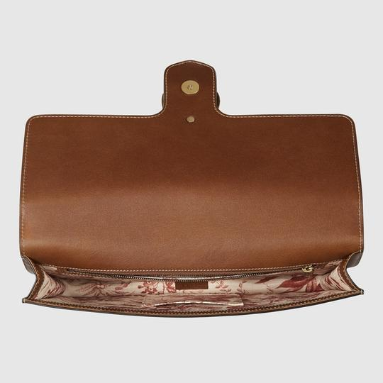 Gucci Leather Gold Hardware brown Clutch