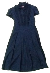 Eliza J short dress Navy Shirt Work Ruffle on Tradesy