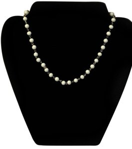 White Choker Style Necklace