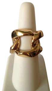 Michael Kors Gold-Tone Link Ring Size 7