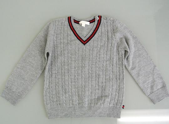 Preload https://img-static.tradesy.com/item/20117679/gucci-gray-new-kids-long-sleeve-v-neck-sweater-top-wweb-3-6-month-270241-groomsman-gift-0-0-540-540.jpg