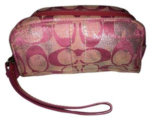Coach Makeup Wristlet in Pink