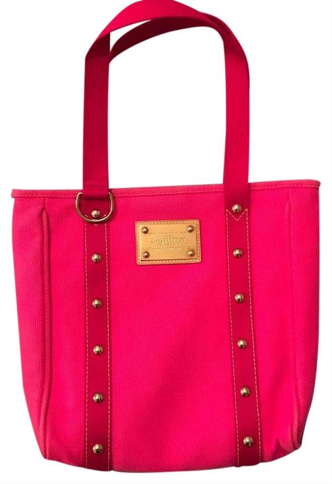 635e329c4079 Louis Vuitton Cabas Antigua Mm Pink Canvas Tote - Tradesy