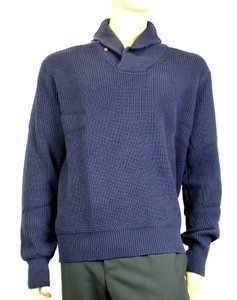 Polo Ralph Lauren Blue New Men's Cotton Shawl-collar Sweater Navy Xl 0186171shw Groomsman Gift