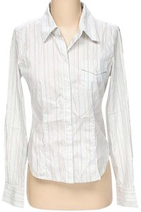 Joie Striped Longsleeve Button Down Shirt White