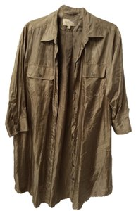 Elizabeth and James short dress Gold Oversized Shirtdress Button-up on Tradesy