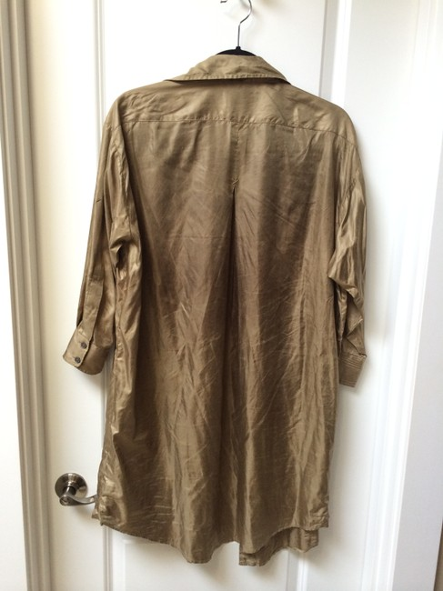 Elizabeth and James short dress Gold Oversized Shirtdress Button-up on Tradesy Image 2