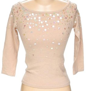 BCBGMAXAZRIA Sequin Embellished Boat Neck Sweater