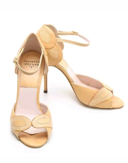 Laurence Dacade Ankle Strap Heels Leather Nude Beige Pumps