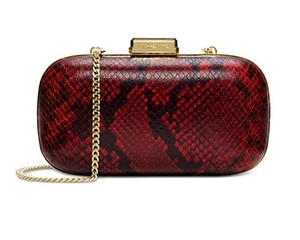 Michael Kors Dome Crossbody Elsie Red Clutch