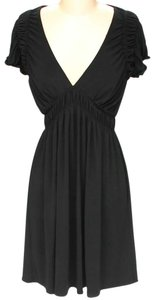 Laundry by Shelli Segal short dress Black V-neck Ruched on Tradesy