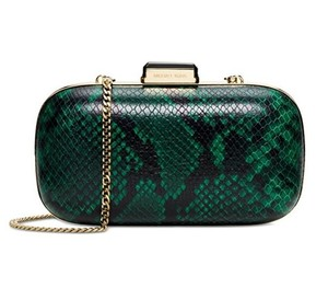 Michael Kors Dome Palmetto Green Clutch