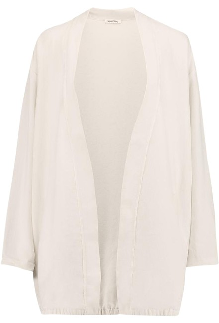 Item - Ivory Cream Beaumont Crepe-trimmed Twill Jacket Size 6 (S)