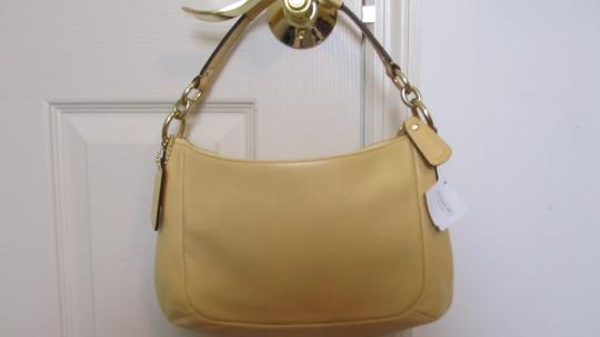 Coach Yellow Leather Cross Body Bag