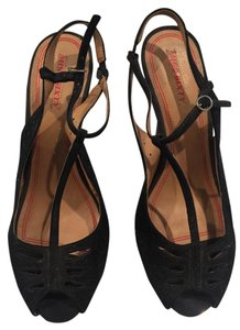 Miss Sixty Stylish Wedge Suede Sexy Black suede Platforms