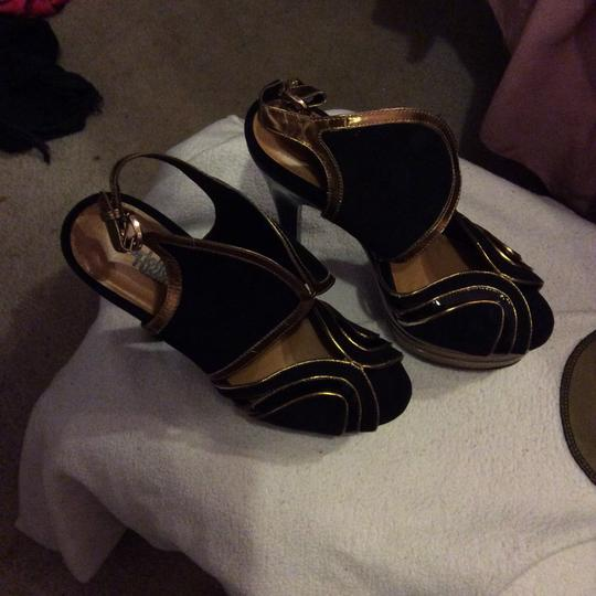 Charlotte Russe Black and gold Platforms