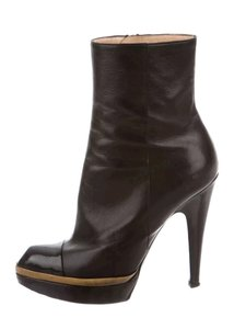 Saint Laurent Bootie Ysl Leather Boot Black Boots