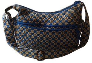 Vera Bradley Tote in Ocean Blue With Yellow And Blue Daisies
