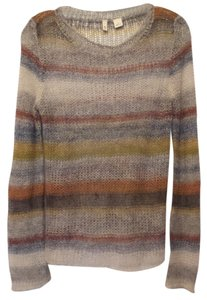 Anthropologie Striped Mohair Oversized Medium Sweater