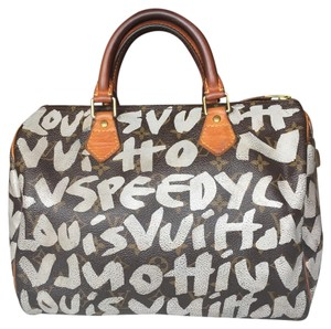 Louis Vuitton Graffiti Speedy Limited Satchel