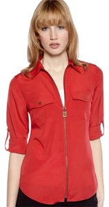 Michael Kors Zip Utility Cotton Top Orange