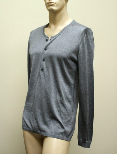 Gucci Gray New Buttoned Men's Silk Sweater Top 3xl 260483 1377 Groomsman Gift